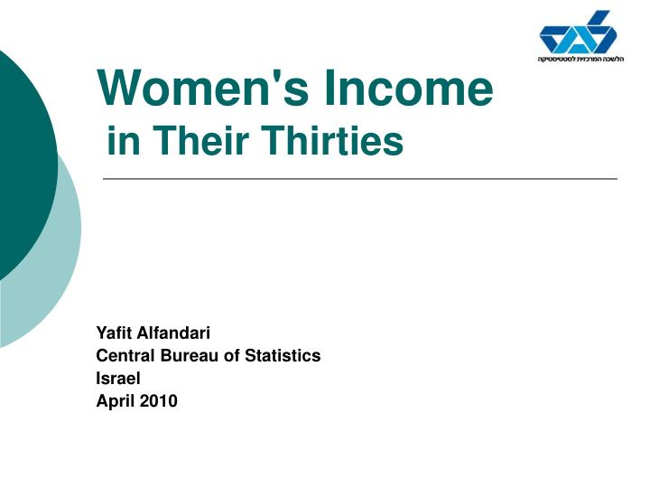 Women s income in their thirties