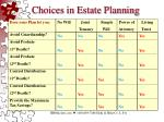 choices in estate planning