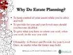 why do estate planning