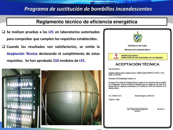 Programa de sustitución de bombillos incandescentes