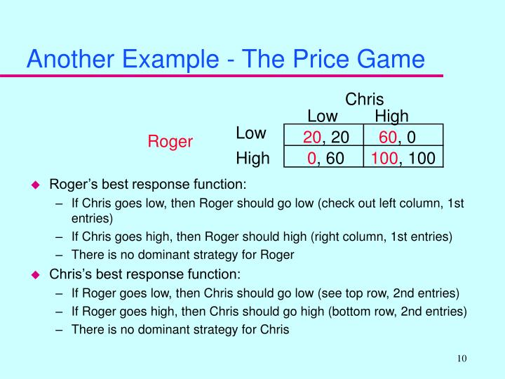 Another Example - The Price Game
