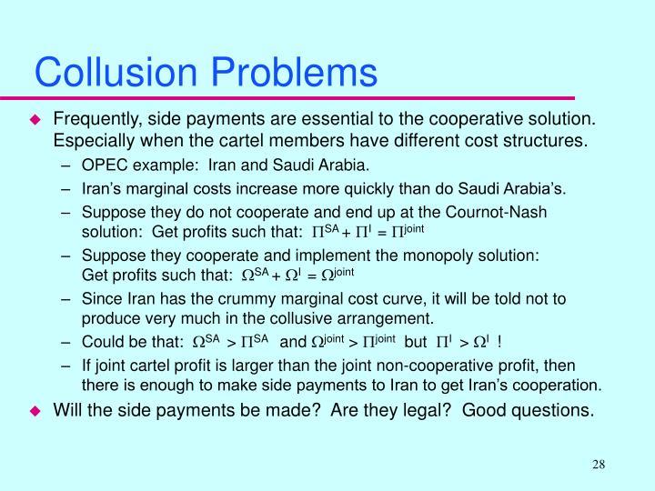 Collusion Problems