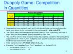duopoly game competition in quantities