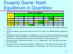 duopoly game nash equilibrium in quantities