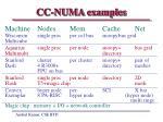 cc numa examples