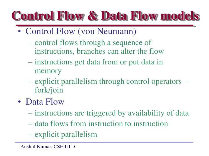 Control Flow & Data Flow models