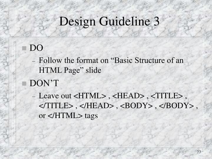 Design Guideline 3