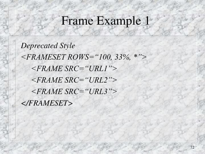 Frame Example 1