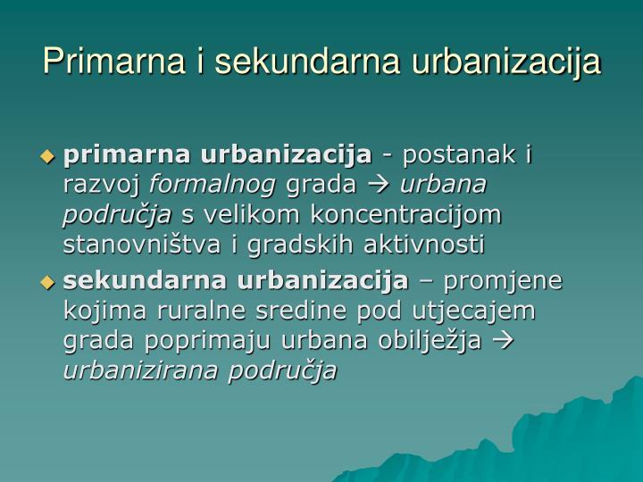 Primarna i sekundarna urbanizacija