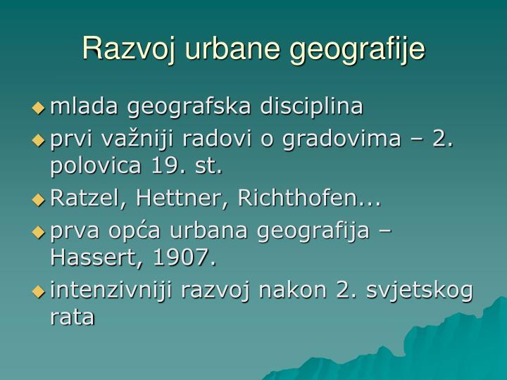 Razvoj urbane geografije