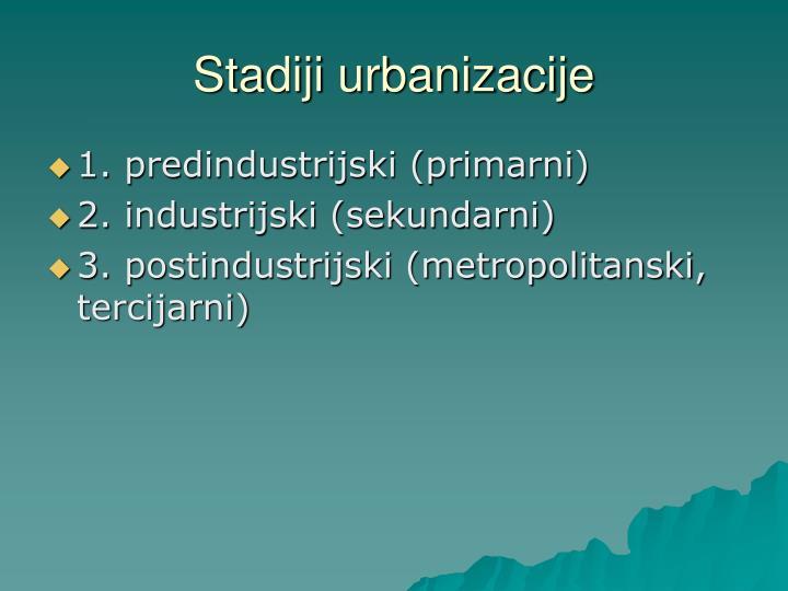 Stadiji urbanizacije