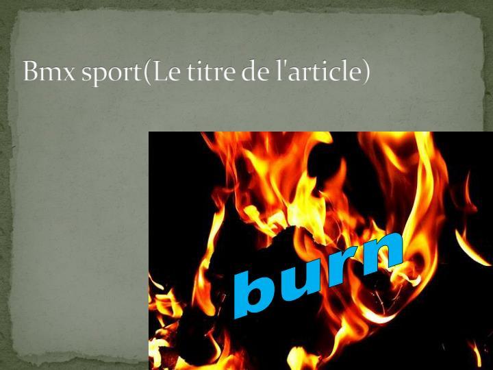 Bmx sport(Le