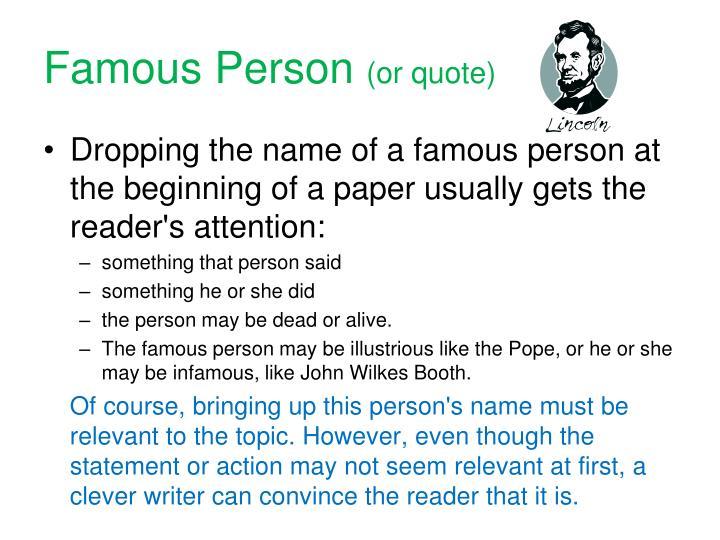 Famous Person