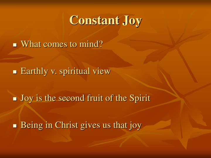Constant Joy