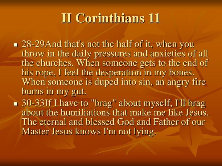 II Corinthians 11