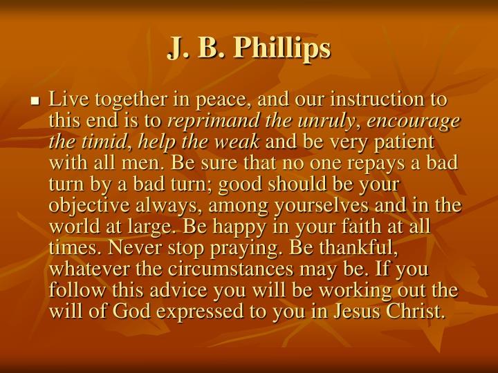 J. B. Phillips