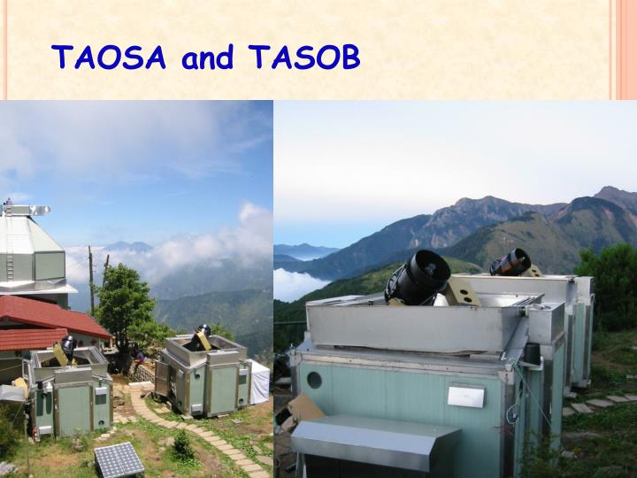 TAOSA and TASOB