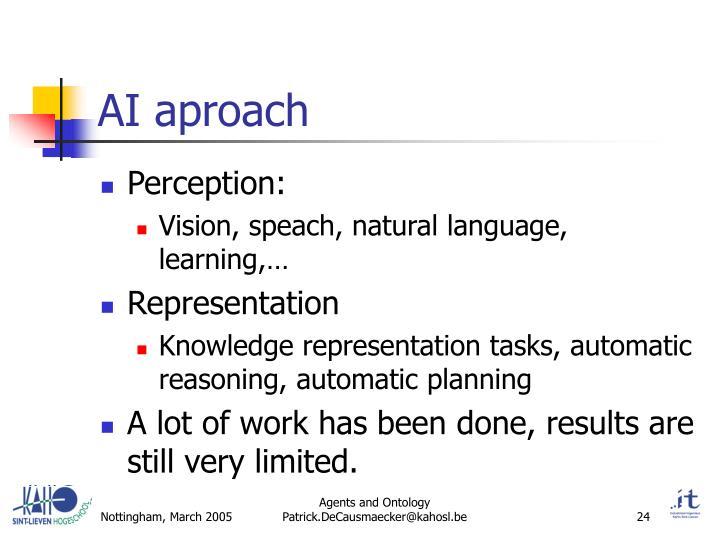 AI aproach