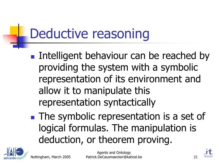 Deductive reasoning