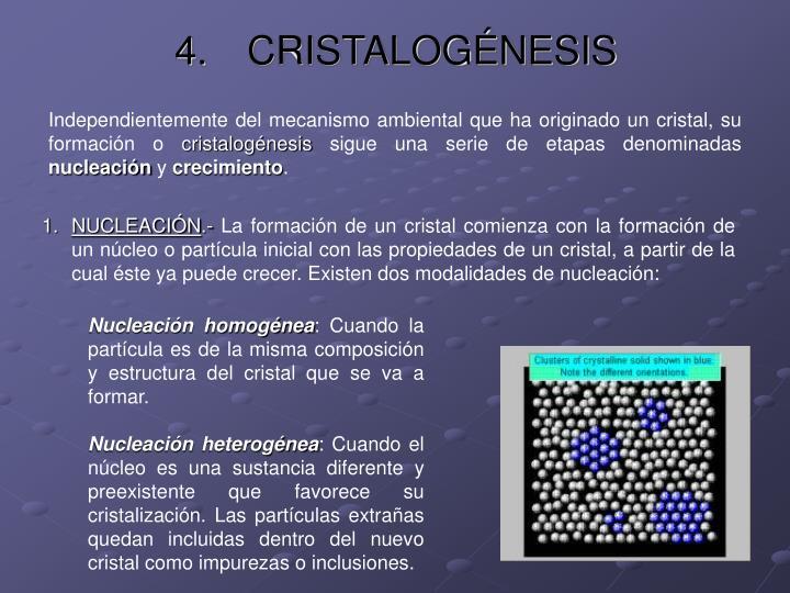 CRISTALOGÉNESIS