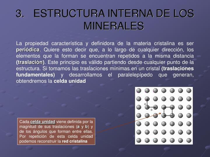 ESTRUCTURA INTERNA DE LOS MINERALES