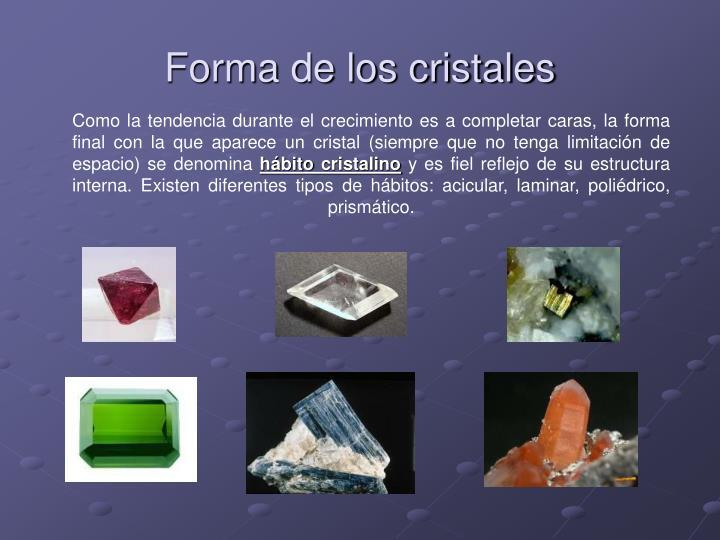 Forma de los cristales