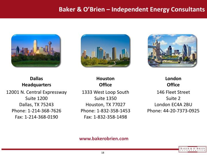 Baker & O'Brien – Independent Energy Consultants