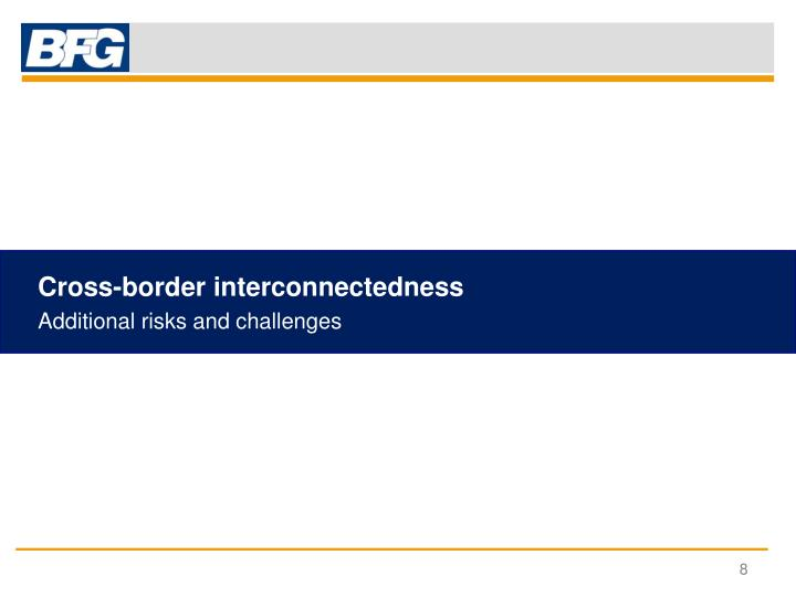 Cross-border interconnectedness