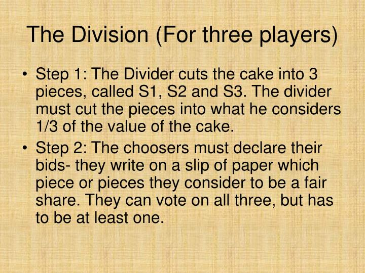 The Division (For three players)