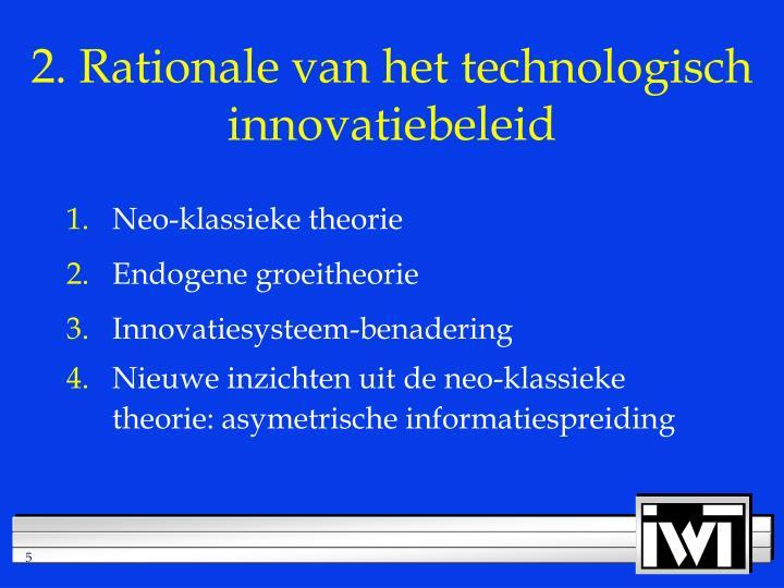 2. Rationale van het technologisch innovatiebeleid