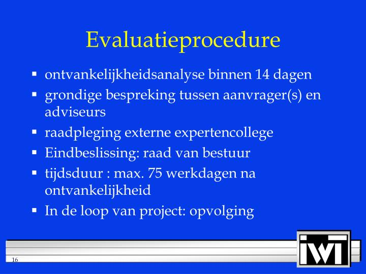 Evaluatieprocedure