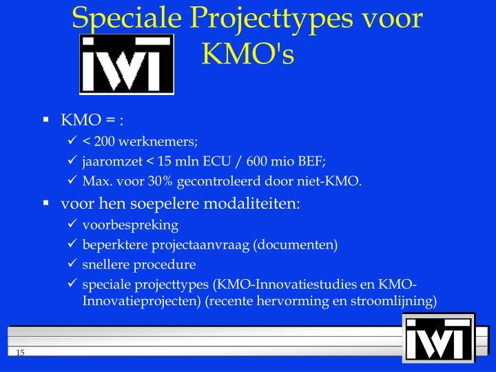 Speciale Projecttypes voor KMO's