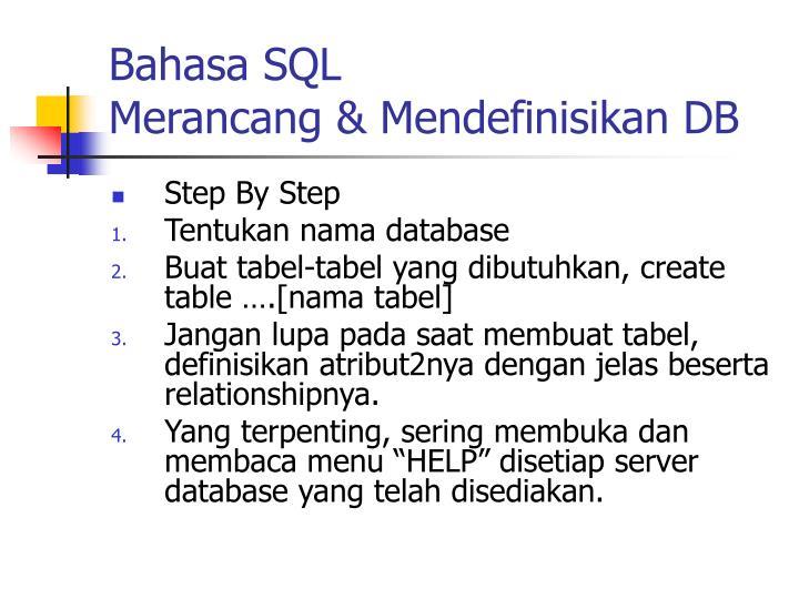 Bahasa SQL