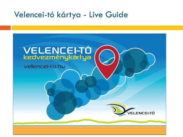 Velencei-tó kártya - Live