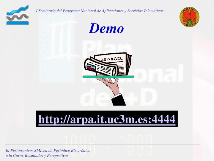 I Seminario del Programa Nacional de Aplicaciones y Servicios Telemáticos