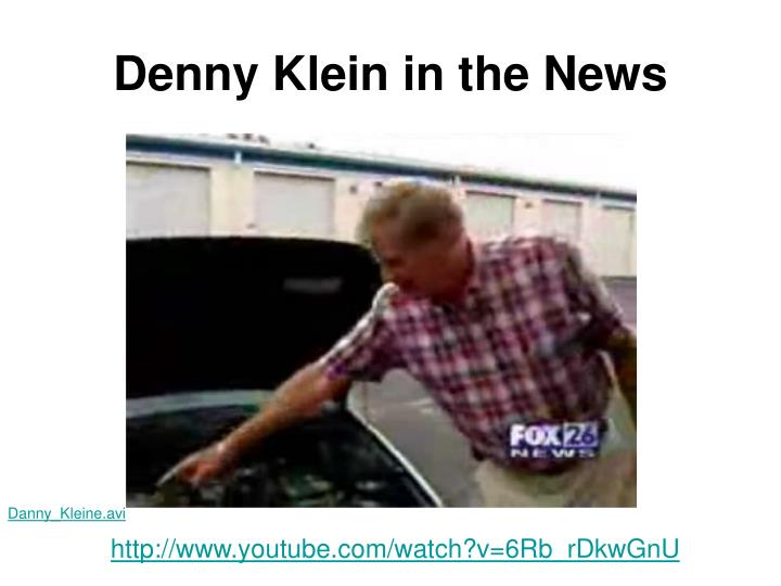Denny klein in the news