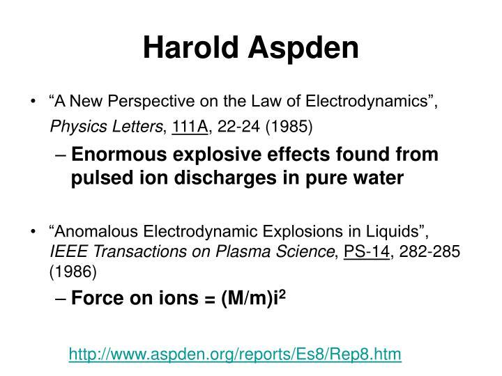 Harold Aspden