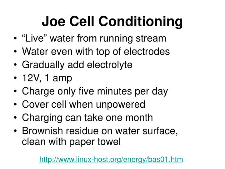 Joe Cell Conditioning