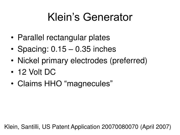 Klein's Generator