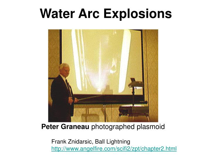 Water Arc Explosions