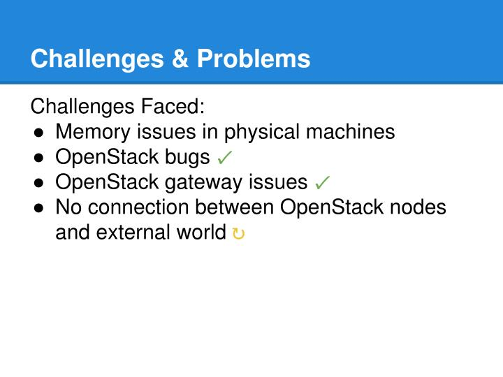Challenges & Problems