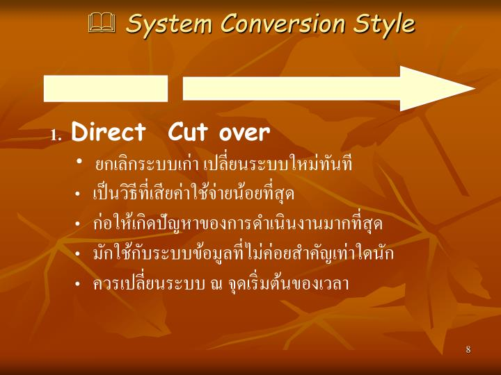 System Conversion Style