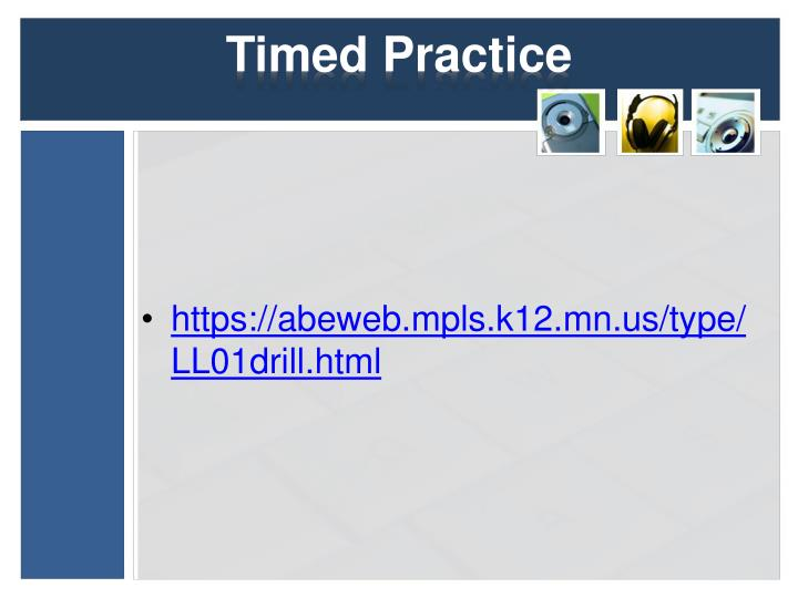 Timed Practice