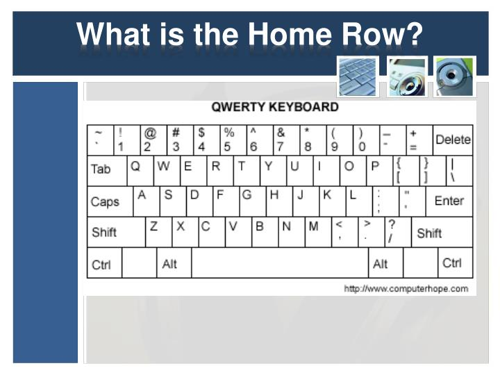 What is the Home Row?