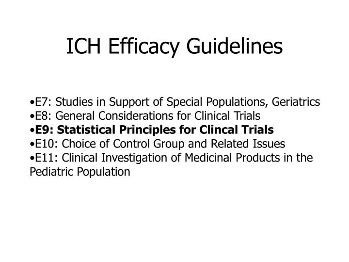 ICH Efficacy Guidelines