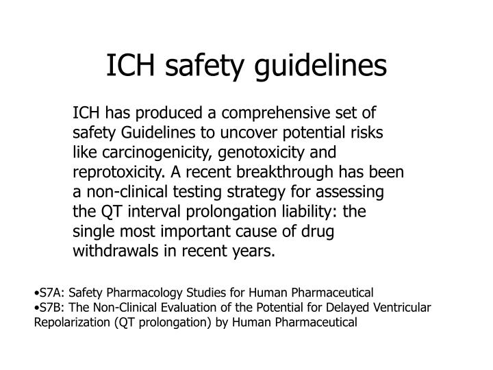 ICH safety guidelines