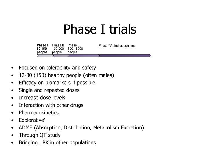 Phase I trials