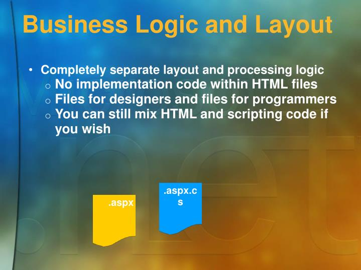 Business Logic and Layout
