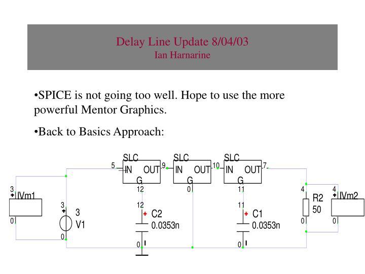 Delay Line Update 8/04/03