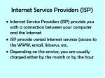 internet service providers isp